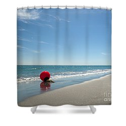 Beach Ball Shower Curtain by Michelle Wiarda