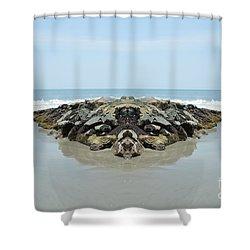 Beach Barrier Shower Curtain