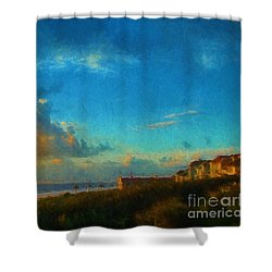 Beach Beauty  Shower Curtain