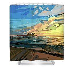 Beach Shower Curtain by Bekim Art