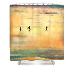 Beach Bike Shower Curtain
