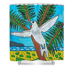 Beach Bird Shower Curtain by Artists With Autism Inc