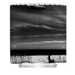 Beach Blimp Shower Curtain