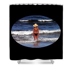 Shower Curtain featuring the photograph Beach Blonde .png by Al Powell Photography USA