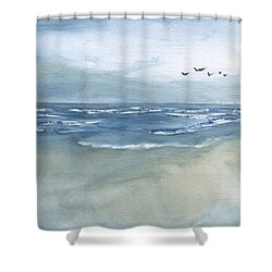 Beach Blue Shower Curtain
