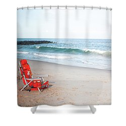 Beach Chair By The Sea Shower Curtain