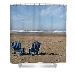 Beach Chair Pair Shower Curtain