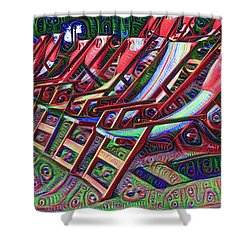Beach Chairs Shower Curtain by Bill Cannon