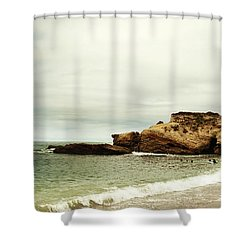 Beach Day At Montana De Oro Inspooner's Cove San Luis Obispo County California Shower Curtain