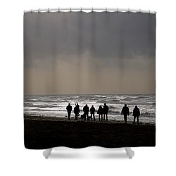Beach Day Silhouette Shower Curtain