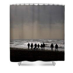 Beach Day Silhouette Shower Curtain