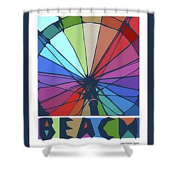 Beach Design By John Foster Dyess Shower Curtain