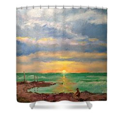 Beach End Of Day Shower Curtain