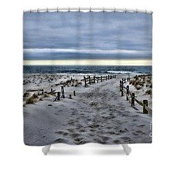 Beach Entry Shower Curtain by Paul Ward