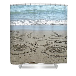 Beach Eyes Shower Curtain