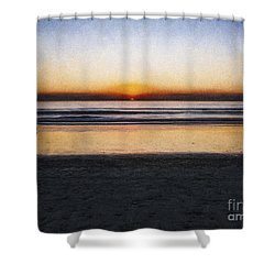 Shower Curtain featuring the photograph Beach Family  ... by Chuck Caramella