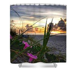 Beach Flowers Shower Curtain
