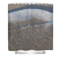 Beach Foam Shower Curtain