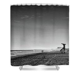 Beach Fog Shower Curtain