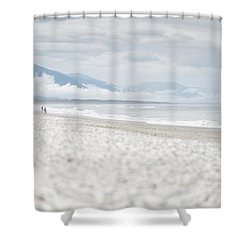 Beach For Two Shower Curtain