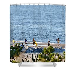 Beach Fun At Cape Henlopen Shower Curtain