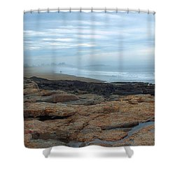 Beach Shower Curtain by Gene Cyr