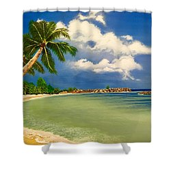 Beach Getaway Shower Curtain