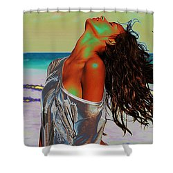 Beach Girl 1 Shower Curtain
