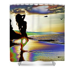 Beach Girl 4 Shower Curtain