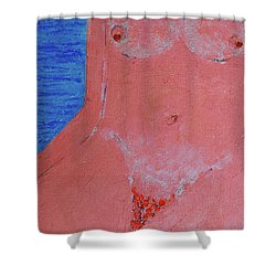 Beach Girl  Shower Curtain