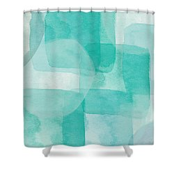 Beach Glass- Abstract Art By Linda Woods Shower Curtain