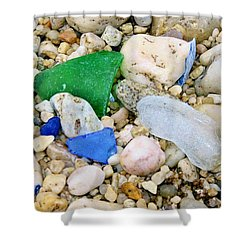 Shower Curtain featuring the photograph Beach Glass by Karen Silvestri