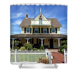 Shower Curtain featuring the photograph Beach Haven Architecture by John Rizzuto