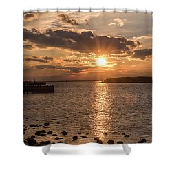 Beach Haven Nj Sunset January 2017 Shower Curtain