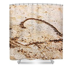 Beach Heart Shower Curtain by John Rizzuto