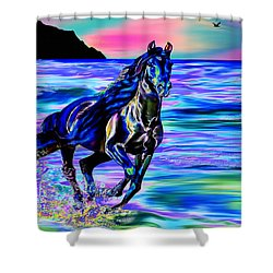 Beach Horse Shower Curtain