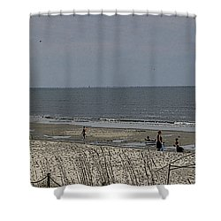 Beach House Backyard Shower Curtain