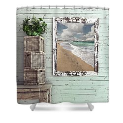 Shower Curtain featuring the photograph Beach House By Kaye Menner by Kaye Menner
