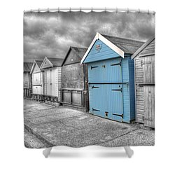 Beach Hut In Isolation Shower Curtain