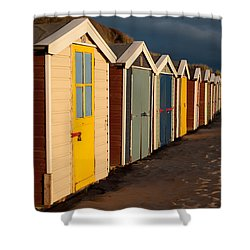 Beach Huts II Shower Curtain