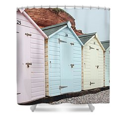 Beach Huts Vi Shower Curtain