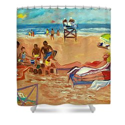 Beach In August Shower Curtain
