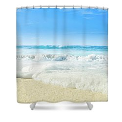 Shower Curtain featuring the photograph Beach Love Summer Sanctuary by Sharon Mau
