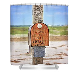 Beach Mail Shower Curtain