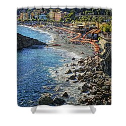 Beach Monterosso Italy Dsc02467 Shower Curtain