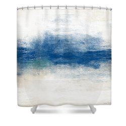 Beach Mood- Abstract Art By Linda Woods Shower Curtain