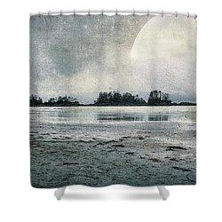 Beach Moon Shower Curtain