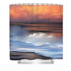 Beach Oasis Shower Curtain by Anthony Fishburne