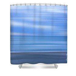 Beach Ocean Blur Shower Curtain by Randy Steele