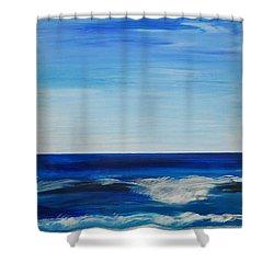 Beach Ocean Sky Shower Curtain